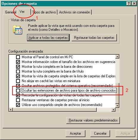 ¿Cómo ver la extensión de los archivos? Cómo se hace