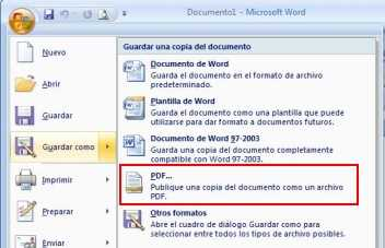 crear pdf con office Crear archivo PDF con Word, PowerPoint, Excel