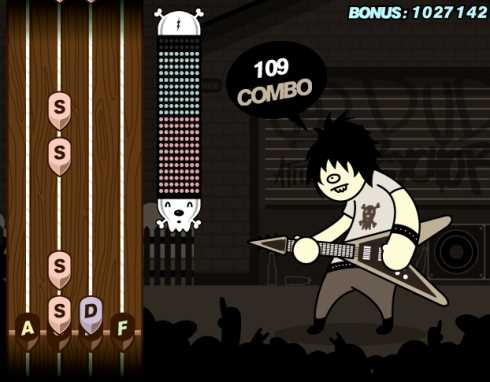 Jugar Guitar Geek online (Guitar Hero) Recomendamos