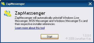 Desinstalar MSN 9 Descargas Software