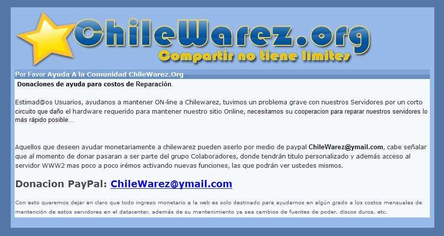 El robo del dominio ChileWarez.org Noticias Opinión
