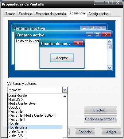 Temas para Windows XP Descargas