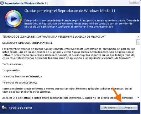 Validar Windows Media Player 11 ¿Cómo se hace?