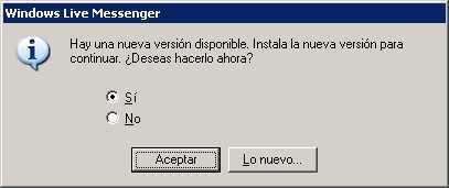 Obligado a actualizar MSN Noticias Software