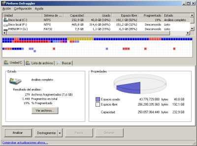 Desfragmentar un disco duro Cómo se hace Descargas Hardware Software