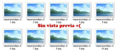 Sin vista previa en Windows 7