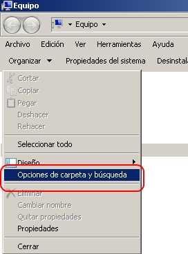 Ver carpetas y archivos ocultos Windows 7 paso 1 Ver archivos y carpetas ocultas en Windows 7