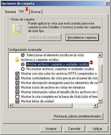 Ver carpetas y archivos ocultos Windows 7 paso 2 Ver archivos y carpetas ocultas en Windows 7