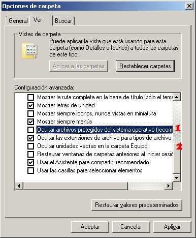 Ver carpetas y archivos ocultos Windows 7 paso 3 Ver archivos y carpetas ocultas en Windows 7