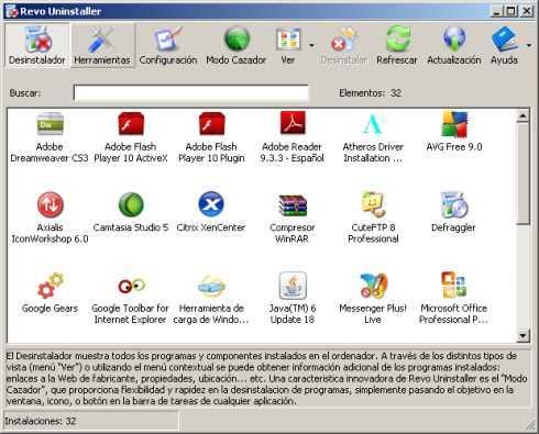 Desinstalar programas dejando el PC limpio Descargas Recomendamos Software