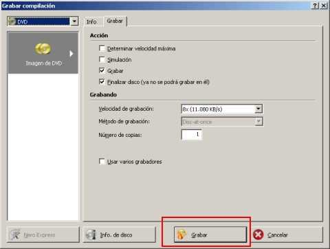 Preparando el disco para grabar Windows 7 Grabar Windows 7 con Nero