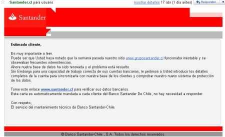 La estafa del Banco Santander  Opinión Seguridad