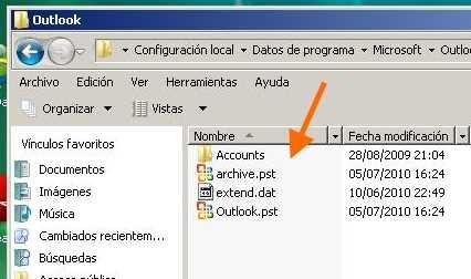 Respaldar correos de Outlook 2003 a 2007 Cómo se hace