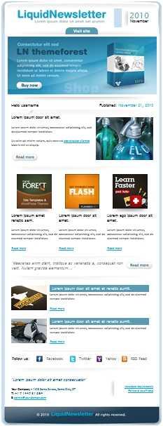 24 Plantillas para newsletter o correos masivos Descargas
