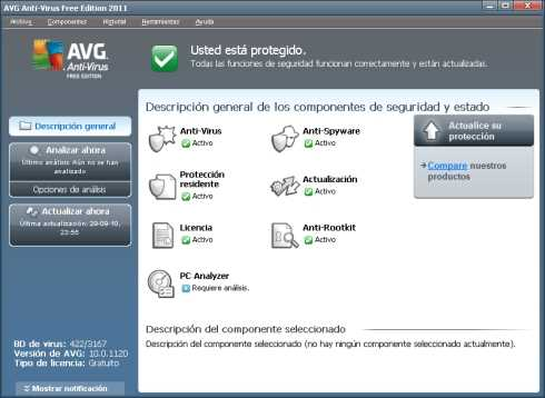 Antivirus gratis AVG 2012 Seguridad Software