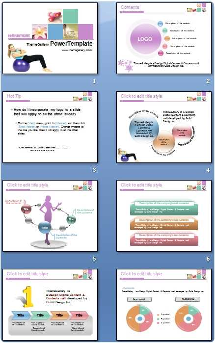 Descargar plantilla PowerPoint deporte mujeres Descargas