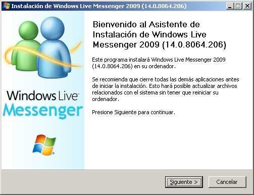 windows live messenger 2009 instalador offline