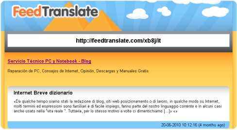 Traducir un RSS, feed al español o cualquier idioma Curiosidades