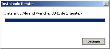 Instalar una fuente en Windows 7 Cómo se hace