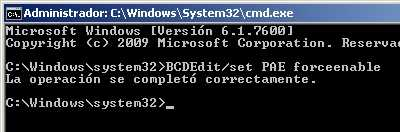 Aplicando PAE en Windows 7 Windows 7 de 64 bits tiene sólo 3.75 de RAM utilizable