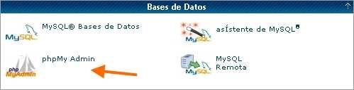 Entrando por CPanel Optimizar base datos MySql por PhpMyAdmin