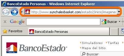 Phishing del Banco Estado Hacking Seguridad