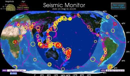 Ver terremotos y temblores online Curiosidades ¿Cómo se hace?