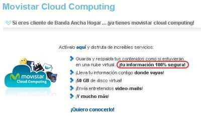Cloud Computing de Movistar es inseguro Curiosidades Hacking Noticias Opinión Seguridad