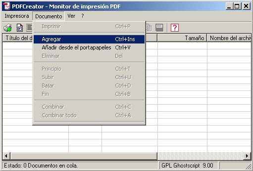 Programa para crear PDF gratis en Windows 7 Descargas Software