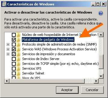 Activar y desactivar widgets de Windows 7 Cómo se hace