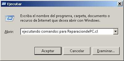 Listado de comandos para Windows Listado de comandos para Windows XP, Windows Vista y Windows 7
