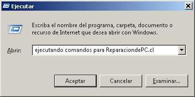 Lista de comandos para Windows XP, Windows Vista y Windows