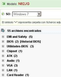 Listado de drivers Asus Descargar drivers Asus