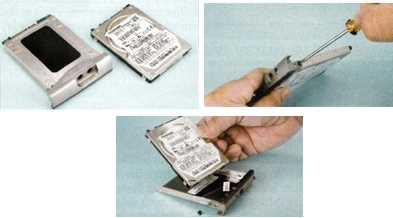 Sacando el disco duro de la cuna Como reemplazar el disco duro de tu notebook o netbook