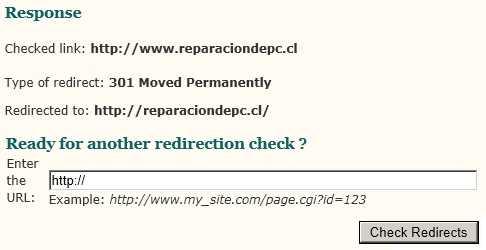 Verificador de redirecciones 301 y 302 Cómo se hace Recomendamos