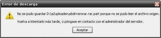 No se pudo leer el archivo de origen Cómo se hace Descargas Preguntas y Respuestas Sistema Operativo