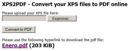 Pasar un XPS a PDF online y gratis con XPS2PDF Cómo se hace Recomendamos