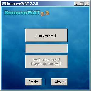 how to remove wat